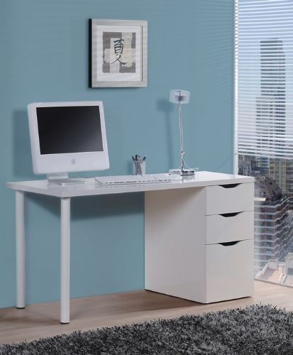 Blanco Artic White Desk With 3 Drawers - 2490